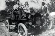 First Car in Brevard Dr. English 1908
